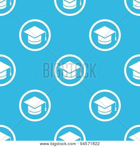 Graduation sign blue pattern
