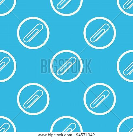 Paperclip sign blue pattern