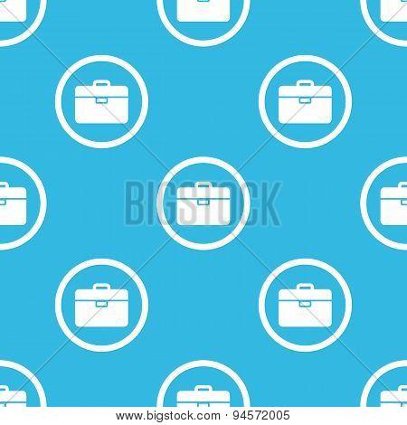 Briefcase sign blue pattern