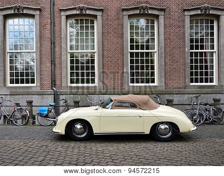 The Hague, Netherlands - May 8, 2015: Classic Porsche 356 At The Hague, Netherlands.