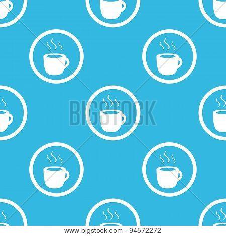 Hot drink sign blue pattern