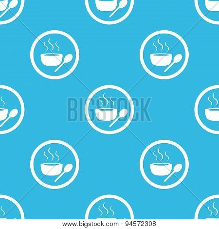 Hot soup sign blue pattern