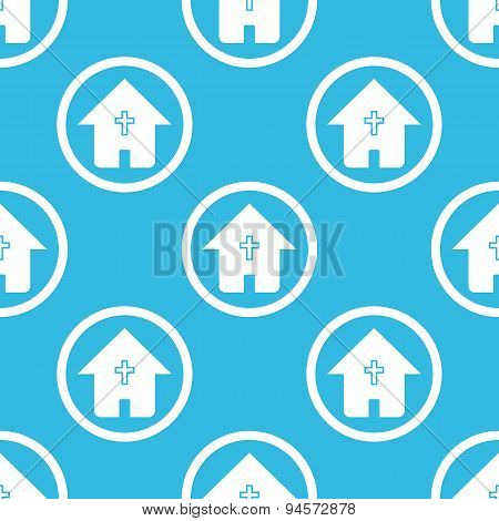 Christian house sign blue pattern