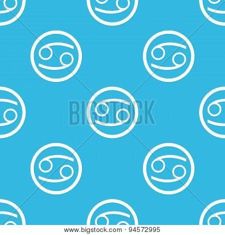 Cancer sign blue pattern