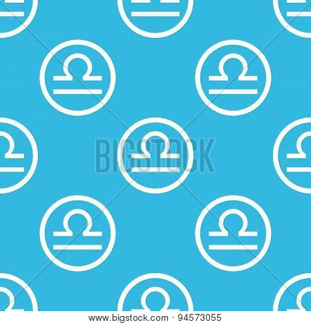 Libra sign blue pattern