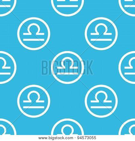 Libra sign blue pattern