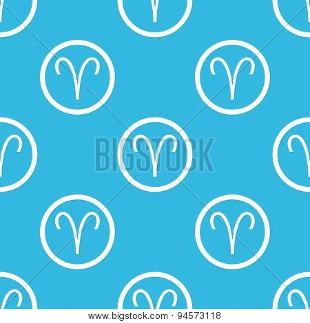 Aries sign blue pattern