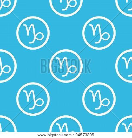 Capricorn sign blue pattern