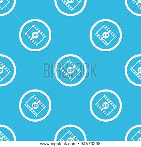 3D movie sign blue pattern