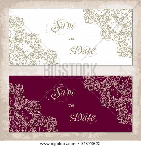 Vintage Invitation Template With Lace