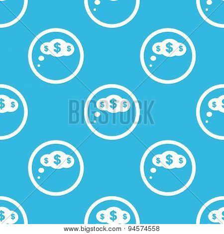 Dollar thought sign blue pattern