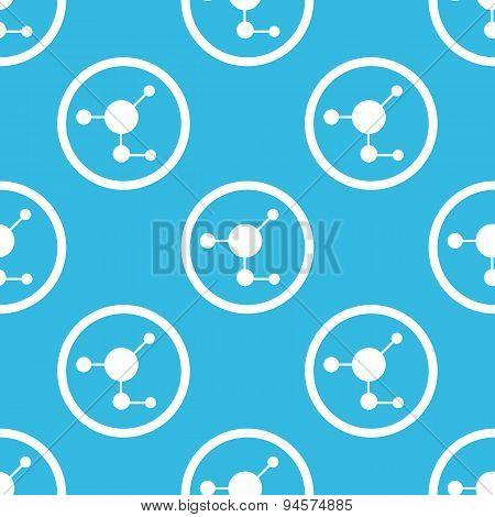 Molecule sign blue pattern