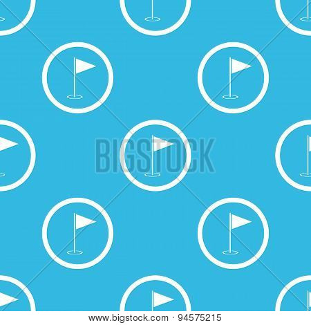 Flagstick sign blue pattern