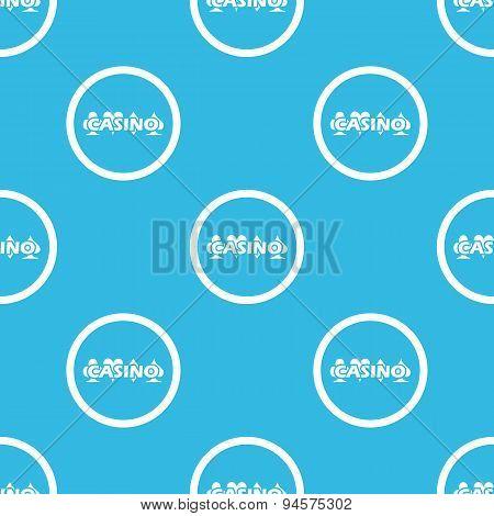 Casino sign blue pattern