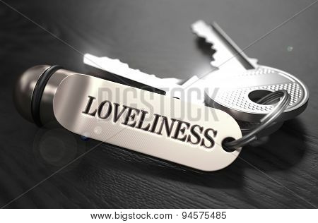 Loveliness Concept. Keys with Keyring.