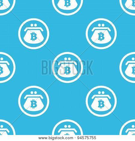Bitcoin purse sign blue pattern