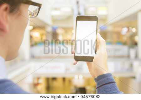 Man With Empty Phone