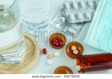 Take Medicine Pills For Treatment
