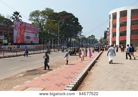 On The Street In Thiruvananthapuram