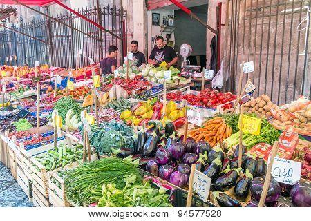 Sicilian market in Palermo