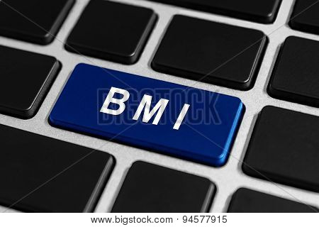 Bmi Or Body Mass Index Button On Keyboard