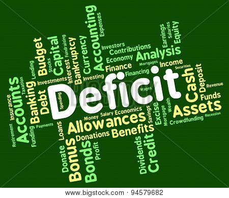 Deficit Word Means Bad Debt And Deficiency