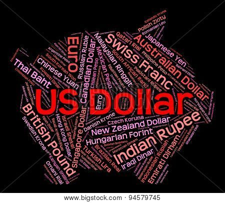 Us Dollar Shows Exchange Rate And Banknote