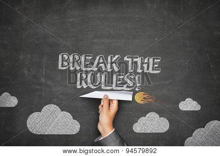 Break the rules concept