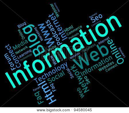 Information Word Represents Wordcloud Support And Answer