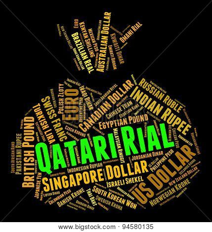 Qatari Rial Means Foreign Exchange And Coin