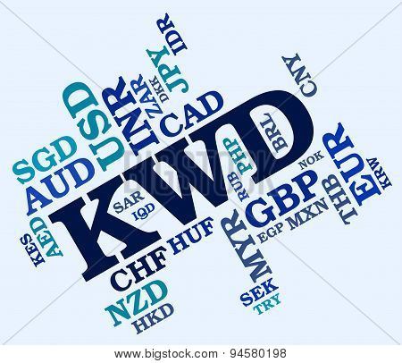 Kwd Currency Shows Foreign Exchange And Broker