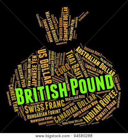 British Pound Indicates Forex Trading And Coinage