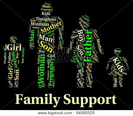 Family Support Indicates Blood Relative And Families