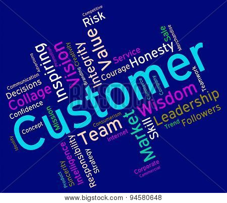 Customer Words Shows Patronage Consumers And Wordcloud