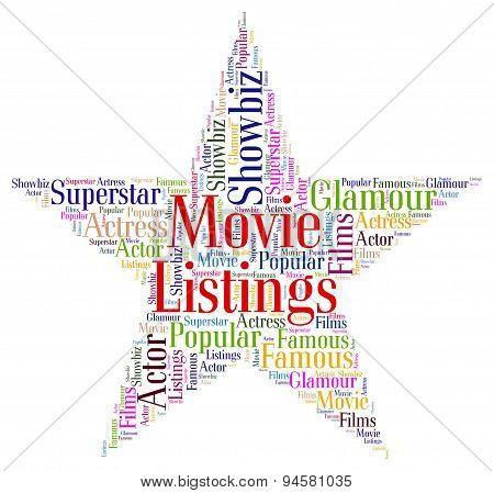 Movie Listings Indicates Watch Movies And Cinema