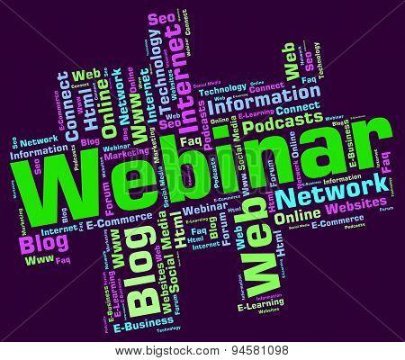 Webinar Wordcloud Means Www Teach And Education