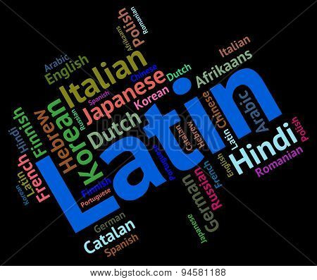 Latin Language Means Words Communication And Word