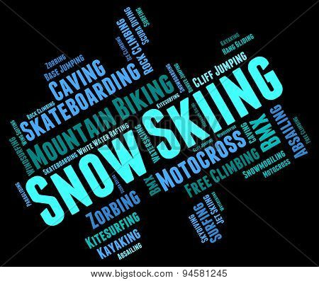 Snow Skiing Means Winter Sports And Mountain-skier