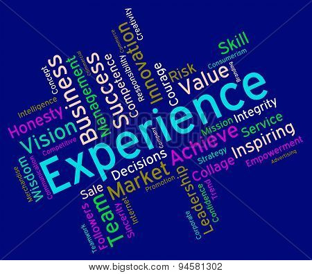 Experience Words Indicates Know How And Competency