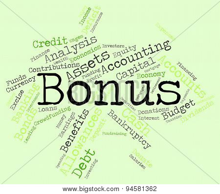 Bonus Word Shows Wordcloud Words And Extra