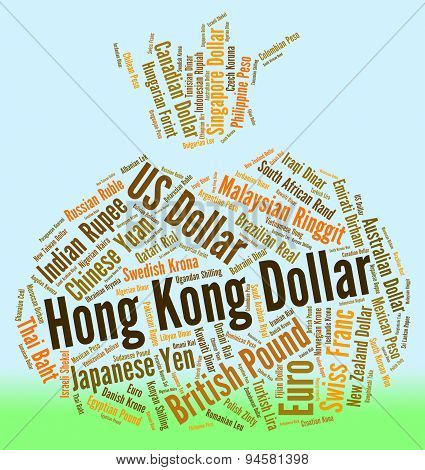 Hong Kong Dollar Indicates Forex Trading And Currency
