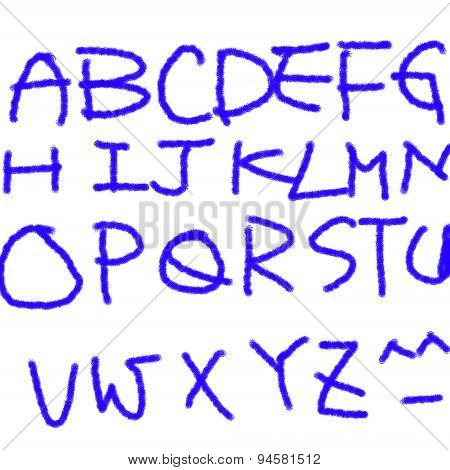 Brush Line Alphabet