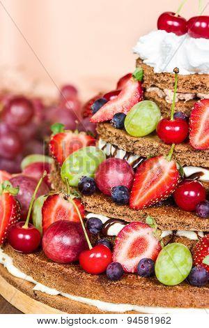 Chocolate Cake Fresh Berries