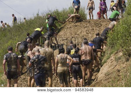 Solidarity Through The Participant At Mud Run