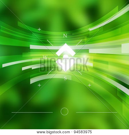 Eco Friendly Technology, Background With Blurred Summer Leaves