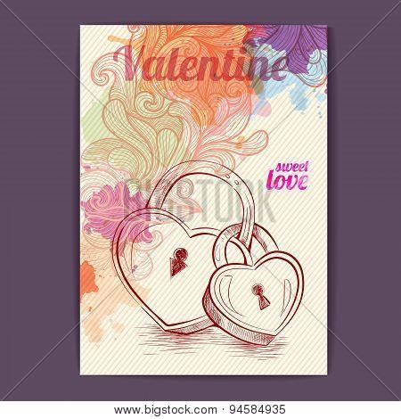 Valentine Disco Poster. Valentine Background