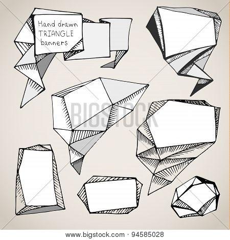 hand drawn triangle bubbles