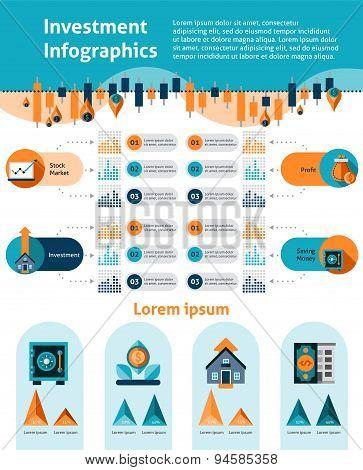 Investment Infographics Set