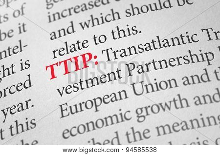 Definition Of The Word Ttip In A Dictionary