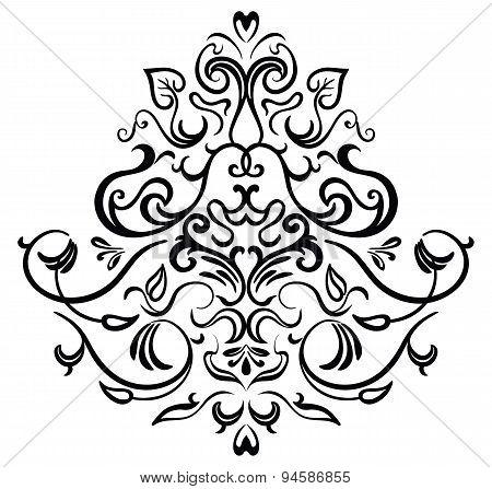 Black-white ornamental frame